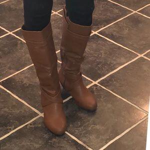 Tall Coffee Brown Boots sz 8.5
